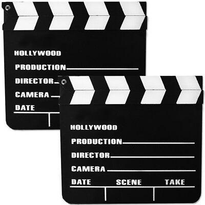Regie Kostüme (2er Set Regieklappe Filmklappe Clupperboard Schreibtafel 20x18cm Kostüm Zubehör)