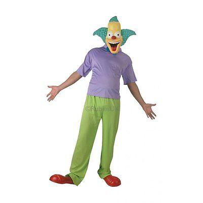 COSTUME KRUSTY IL CLOWN Carnevale Simpson Cartoni Animati Homer Bart Marge (Krusty Clown Kostüm)