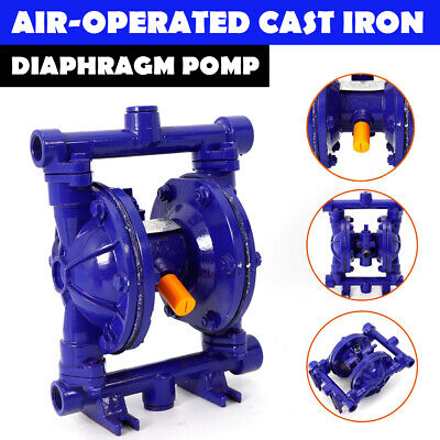 Air-operated Double Diaphragm Pump Blue Cast Iron 12 Gpm 12 Inch Inlet Outlet