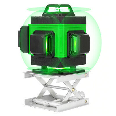 4d 360 16 Line Green Beam Laser Level Auto Self Leveling Rotary Cross Measure