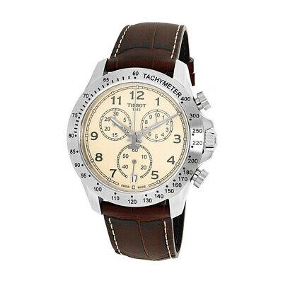 100% New Tissot T106.417.16.262.00 V8 Chronograph Ivory Dial Men's Watch 42mm ()