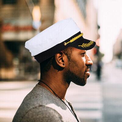 1St Erwachsene Yacht Boot Mützen Sailor Captain Kostüm Hut Marine Admiral Kappe