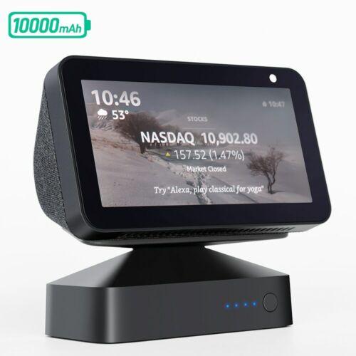 Portable Battery Base Amazon Echo Show 5 Rechargeable Speaker Holder Power Bank