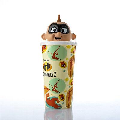 Incredibles 2 Jack-Jack Parr Straw Sipper Cup Jack Figure Top Cinema Movie - Jack Jack Parr
