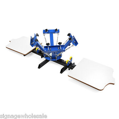 Silk Screen Printing Press Machine 4 Color 2 Station For Diy T-shirt Printing