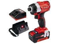 NEW Einhell 18V BRUSHLESS Li-ion Impact Driver with 4.0ah Batt & Charger! RRP £140!