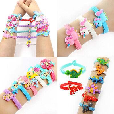 Unicorn Bracelet (2/10Pcs Kids Cartoon Unicorn Silicone Wristband Bracelet Bangle Party)