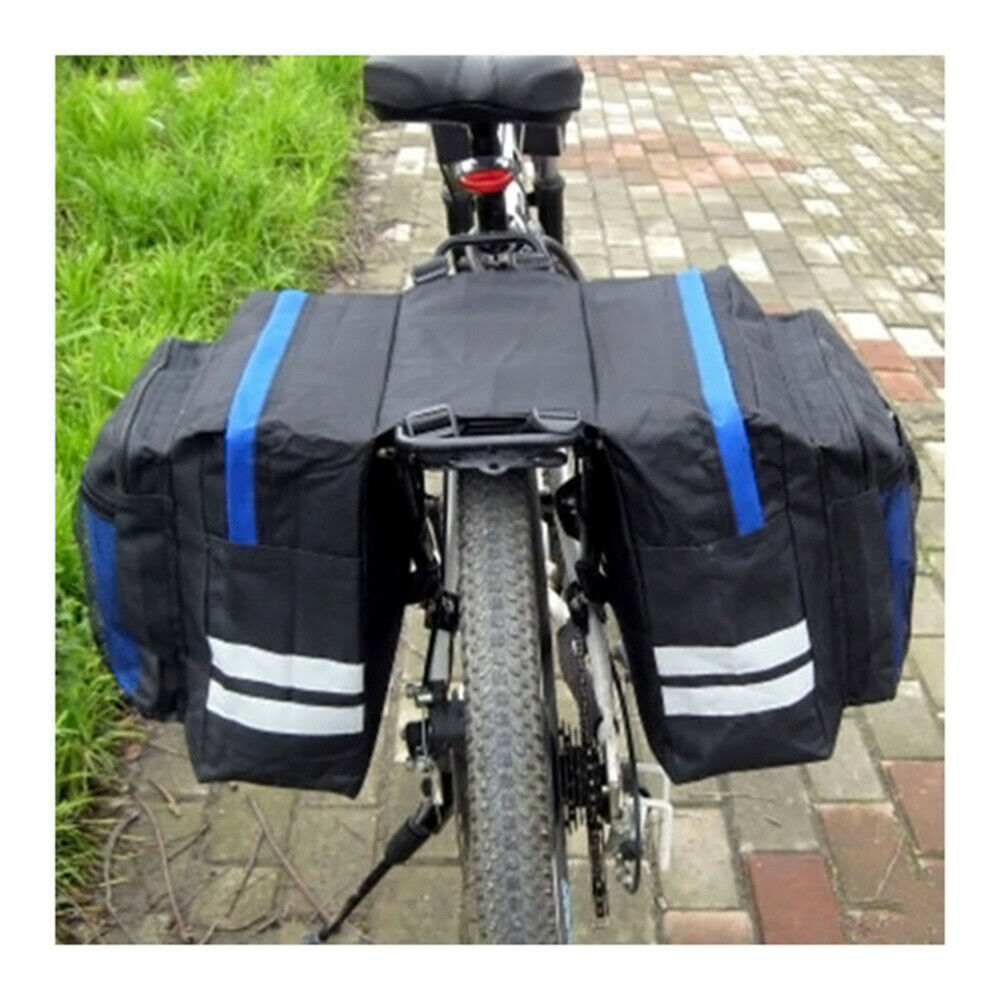 Double Side Pouch Bike Frame Pannier Bag Bicycle Saddle Bag For Outdoor