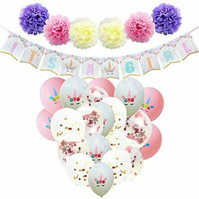 Baby Shower Decorations For Girl Unicorn Theme Party Supplies Set ITS A Banner](Baby Shower Themes For A Girl)