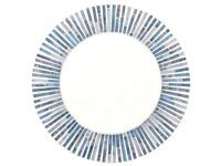 Round Mosaic Design Mirror Made in Bali - Blue - 40cm - New & Boxed