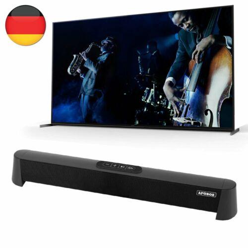 40W Bluetooth 5.0 Soundbar Subwoofer Fernbedienung Lautsprecher Für TV PC Handy