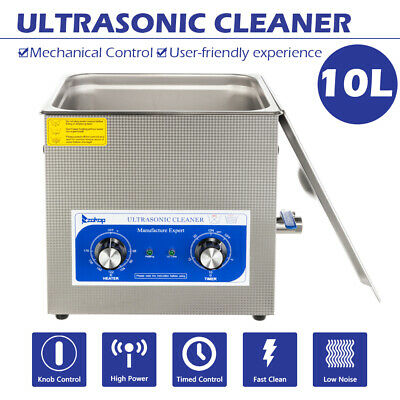 10l 240w Digital Heated Industrial Stainless Steel Ultrasonic Parts Cleaner