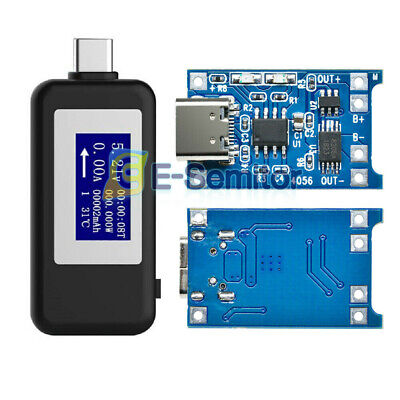 Type-c Dc Digital Display Usb Tester Monitor Voltmeter Ammeter Lcd Usb Detector