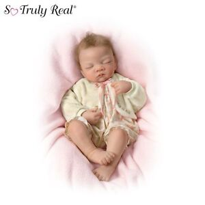 Ashton-Drake So Truly Real Weighted Lifelike Baby Doll By Artist Waltraud Hanl