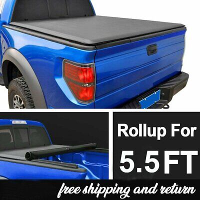 5.5FT Roll Up Truck Bed Tonneau Cover For 2015-2019 Ford F150 BEST