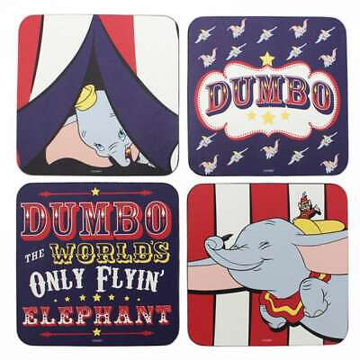OFFICIAL DISNEY DUMBO SET OF 4 TABLE DRINKS COASTERS MATS NEW IN GIF SLEAVE