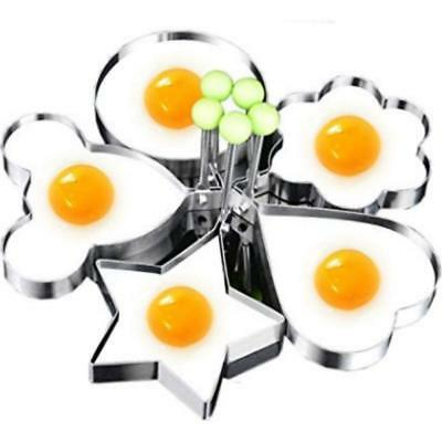 Egg Mold - 5Pcs Fried Egg Non Stick Stainless Steel Pancake Ring Mold Cooking Kitchen Tools