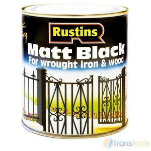 Rustins black matt paint interior and exterior 250ml ebay - Exterior wood paint matt pict ...