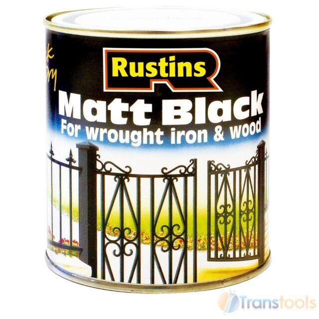 Rustins Black Matt Paint Interior and Exterior 250ml