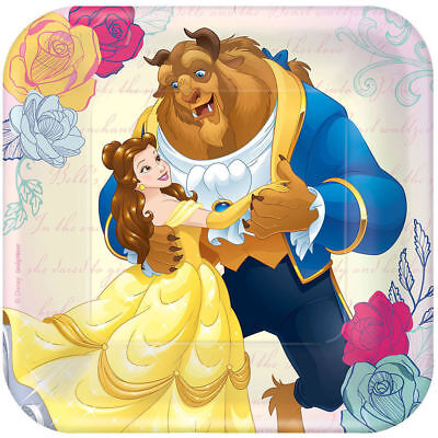 Beauty and the Beast Dessert Plates 8ct Belle Party Supplies Tableware Birthday ()