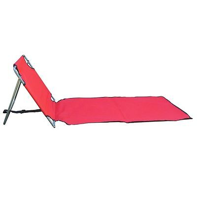 Portable Folding lounge chair beach patio pool yard lightweight lounger RED ()