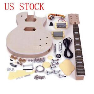 Diy guitar kit ebay complete unfinished diy kit electric guitar body fingerboard accessories gift solutioingenieria Image collections