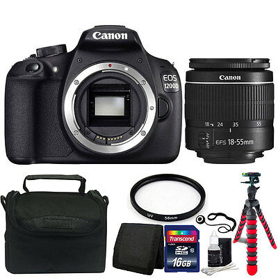 Canon EOS Rebel 1200D/T5 18MP DSLR Camera w/18-55mm Lens Accessory Bundle