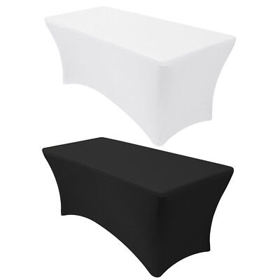 4' 6' 8' ft  Rectangular Fitted Tablecloth Spandex Stretch Table Cover Wedding](Spandex Table Covers)