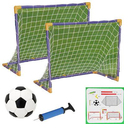 Calcio Hockey Goal W/ Reti Paletti Palla Pompa Set Twin Allenamento Sports 32PCS