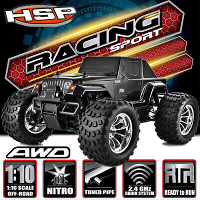 HSP PRO 4WD 1/10 60Km/h Nitro RC RTR Drift Racing Car On/Off Road Monster Buggy