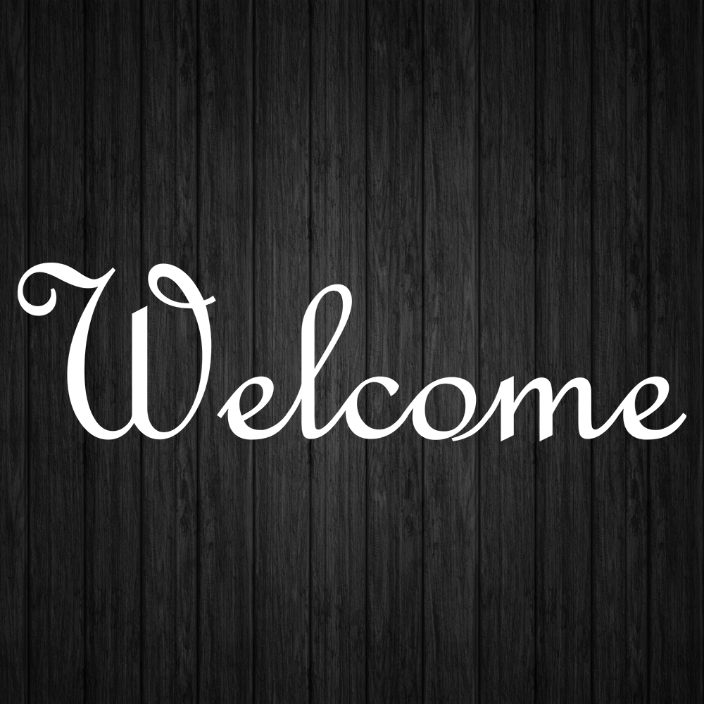 Home Decoration - Welcome Decal Sticker Vinyl Sign Decals Business Home Door Window Stickers Decal