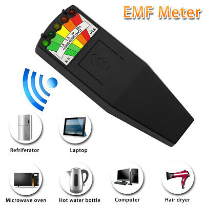 1x LED EMF Meter Magnetic Field Detector Ghost Hunting Detector Equipment Tester