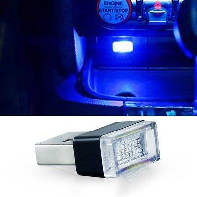 Blue USB Plug-In Small LED Lights Car Extra Dash Floor Atmosphere Lighting Kit