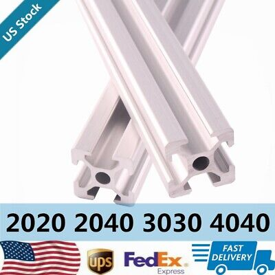 T Slot Linear Rail 2pcs 300mm2000mm 2020 3030 4040 2040 Extrusion Anodized Cnc
