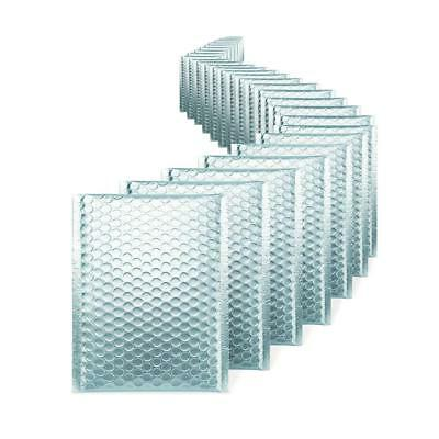 100 000 Matte Metallic Ice Blue Poly Bubble Mailers 4x8 Inner 4x7