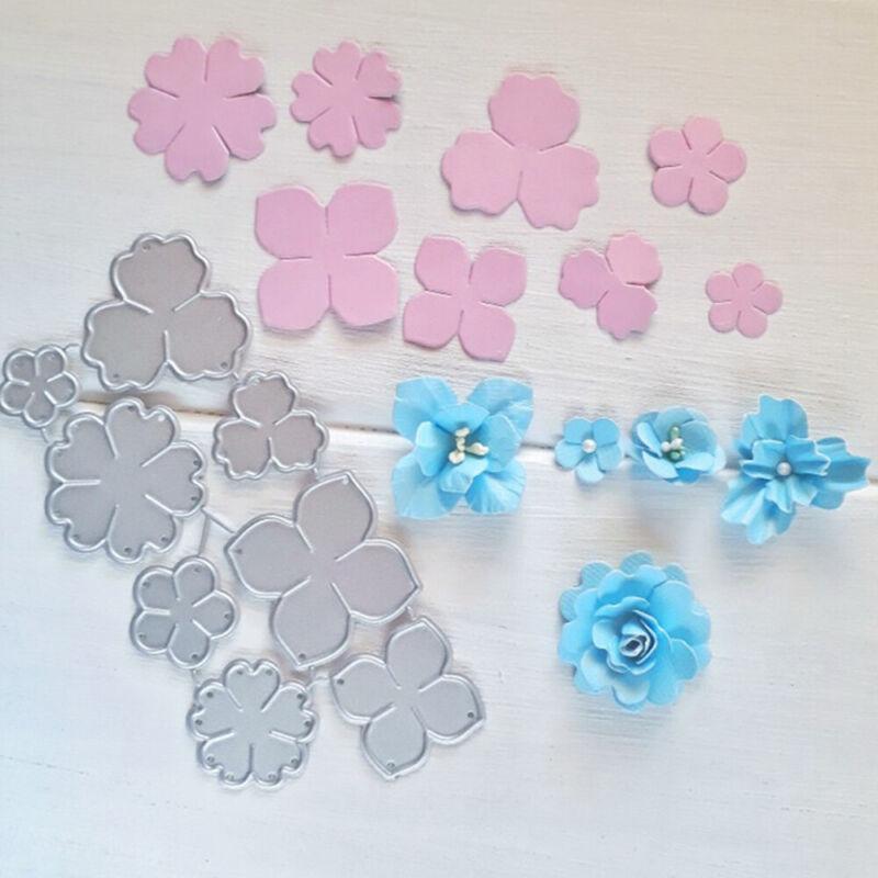 Flower Metal Cutting Dies Stencil Scrapbooking DIY Card Paper Embossing Craft