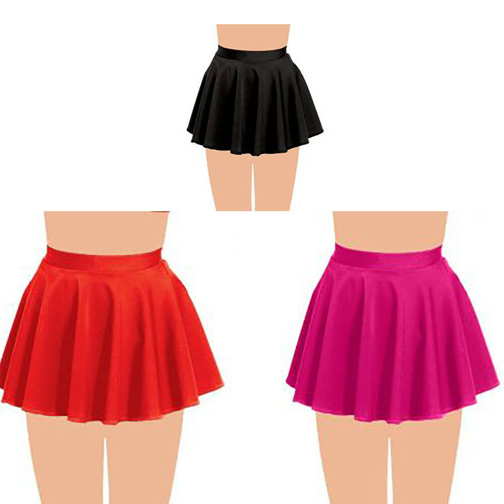 GIRLS KIDS CIRCULAR BALLET DANCE SKIRT SHORT SKATING TAP JAZZ GYMNASTICS TUTU