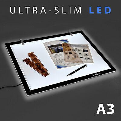 Large A3 LED Ultra Slim Art Craft Tracing Tattoo Light Box Pad Board Lightbox