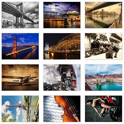 12 Stück Postkarten-Set, verschiedene Motive,  Ansichtskarten DIN A6 (PKT-013)