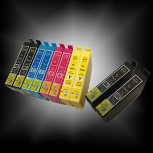 10-XL-Ink-Cartridges-for-Epson-Stylus-Colour-Inkjet-Printer-2-Sets-2-Black