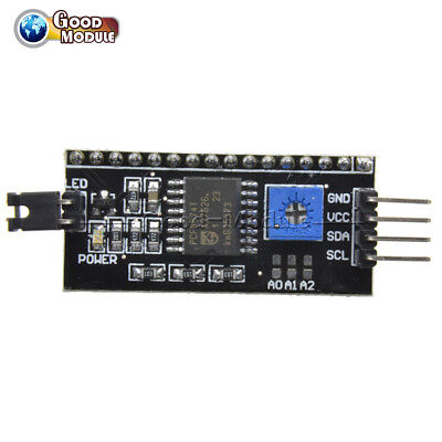 2pcs Iic I2c Twi Spi Serial Interface Board 1602lcd Module Port For Arduino