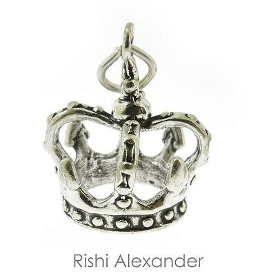 925 Sterling Silver Kings Crown Charm Made in USA