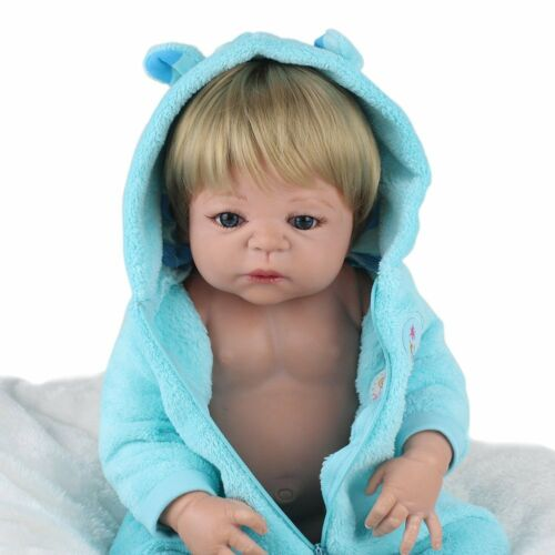 Full Body Soft Reborn Baby Dolls Vinyl Silicone Realistic Newborn Boy Doll Gifts