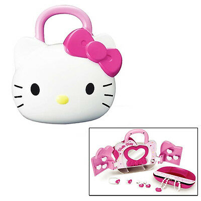 Hello Kitty Fashion Set Jewellery Box Girls Toy Ring Earrings Necklace Bracelet