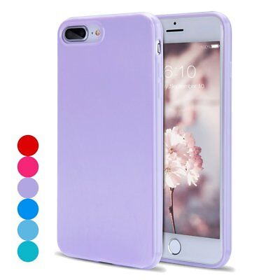 Colorful Candy (For iPhone 8 Plus Soft TPU Ultra Thin Anti-Scratch Candy Color Cute Case)