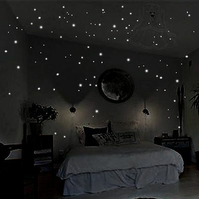 400  Glow In The Dark Star Round Dot Luminous Wall Stickers Home Decoration