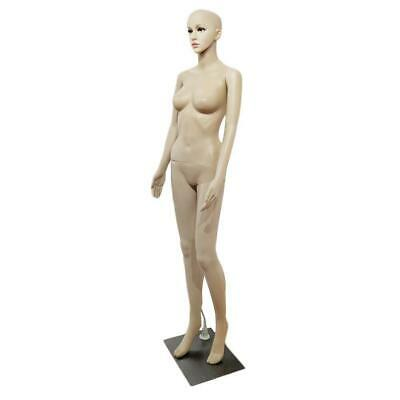 Full Body Female Mannequin Base Plastic Realistic Display Head Turns Dress 176