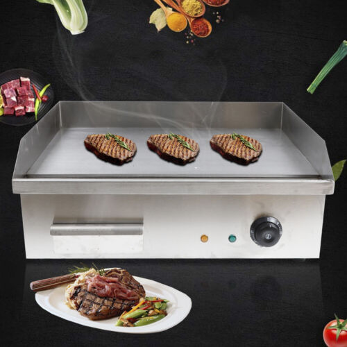 110V Electric Griddle Grill BBQ Cooktop Supplies Stainless S