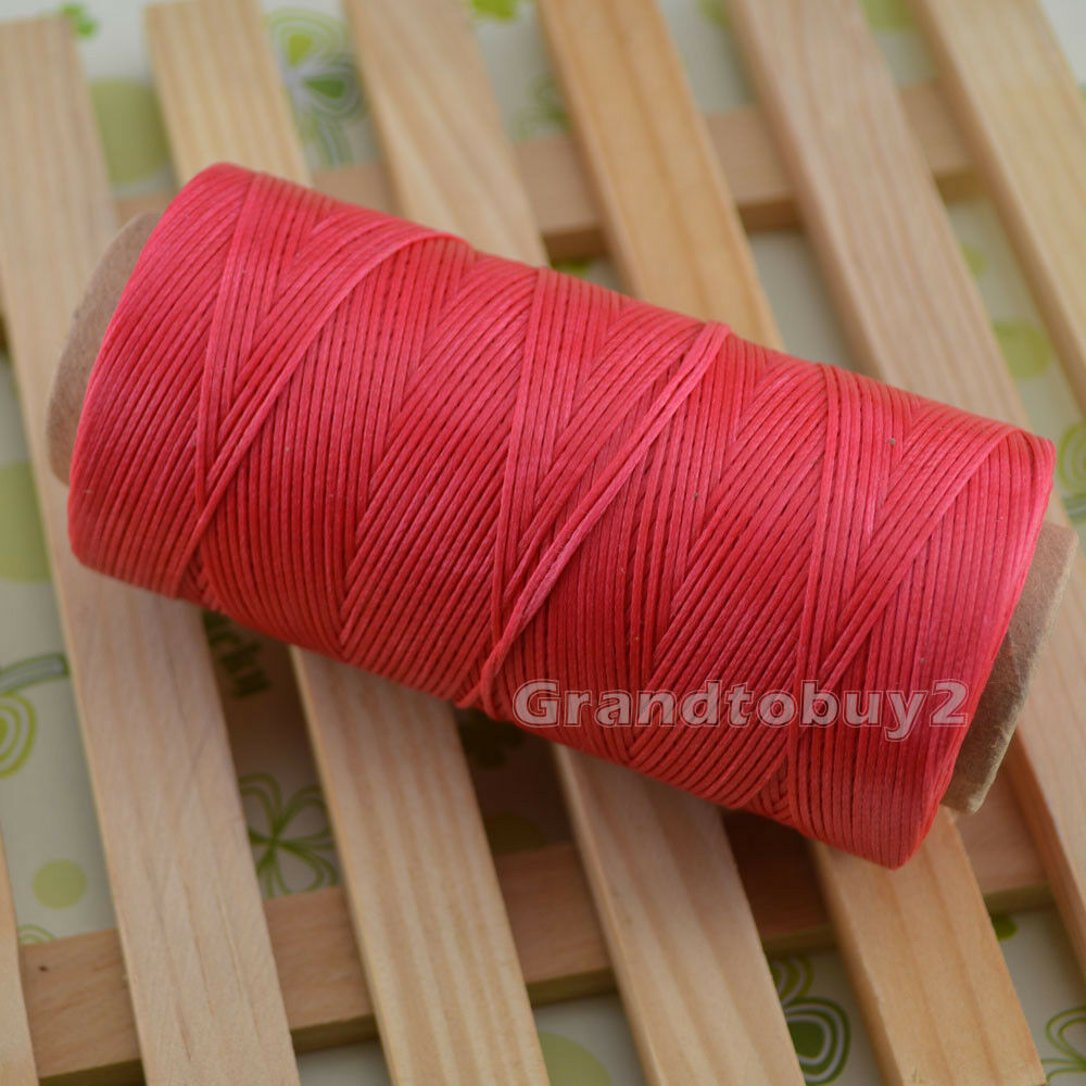 284yards 19 Colors 0.8mm Sewing Leather Waxed Thread Cord Leather Craft Peach