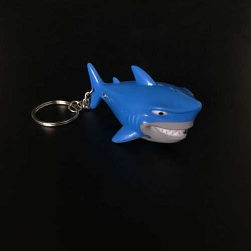 Q Version Shark Shape Vocal Luminous Key Chains Key Rings LED Lights